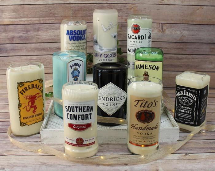 alcoholic drink candles hard liquor edition