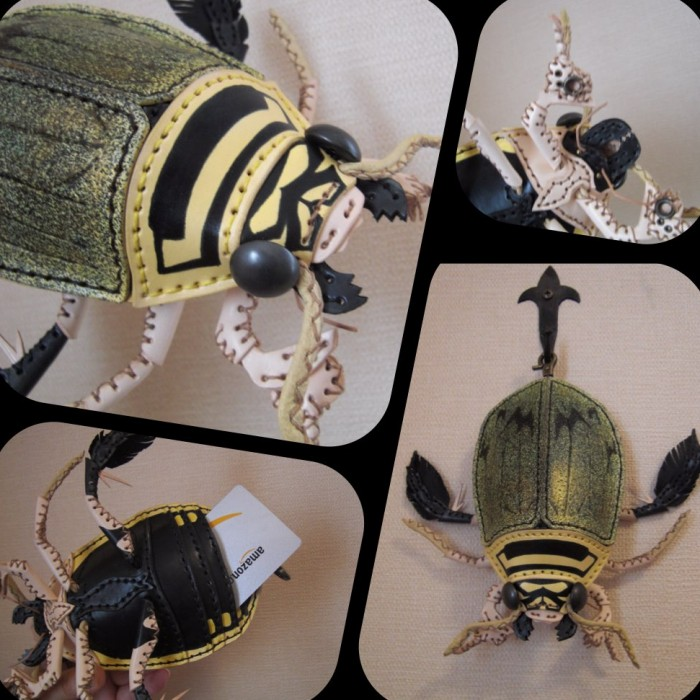 amaheso creature-inspired handbags beetle