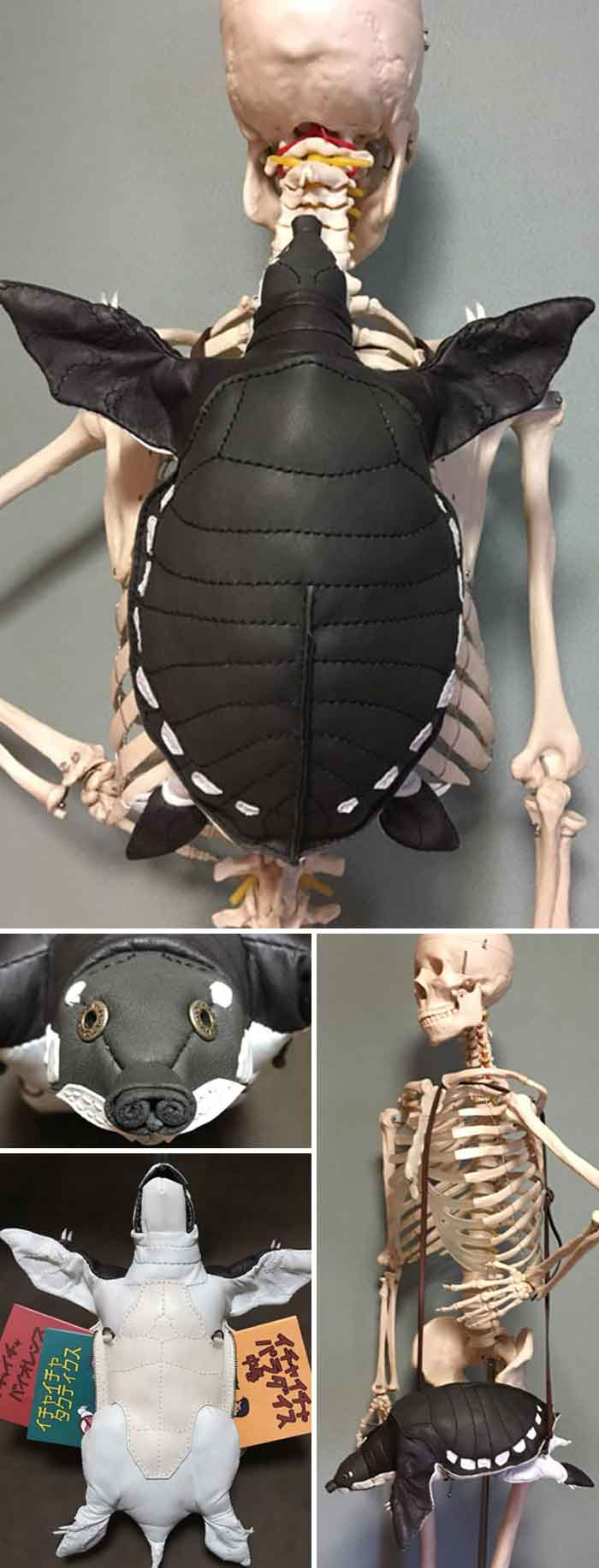 amaheso creature-inspired handbags black turtle