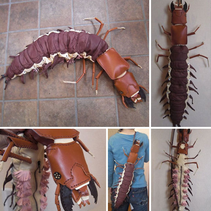 amaheso creature-inspired handbags creepy centipede