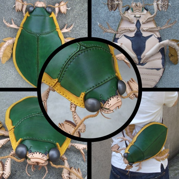amaheso creature-inspired handbags green bug