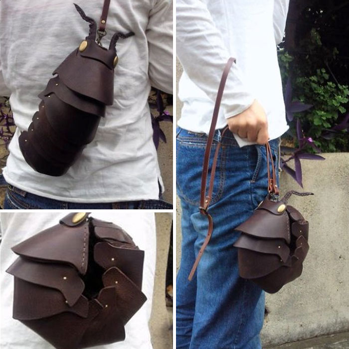 amaheso creature-inspired handbags pill bug