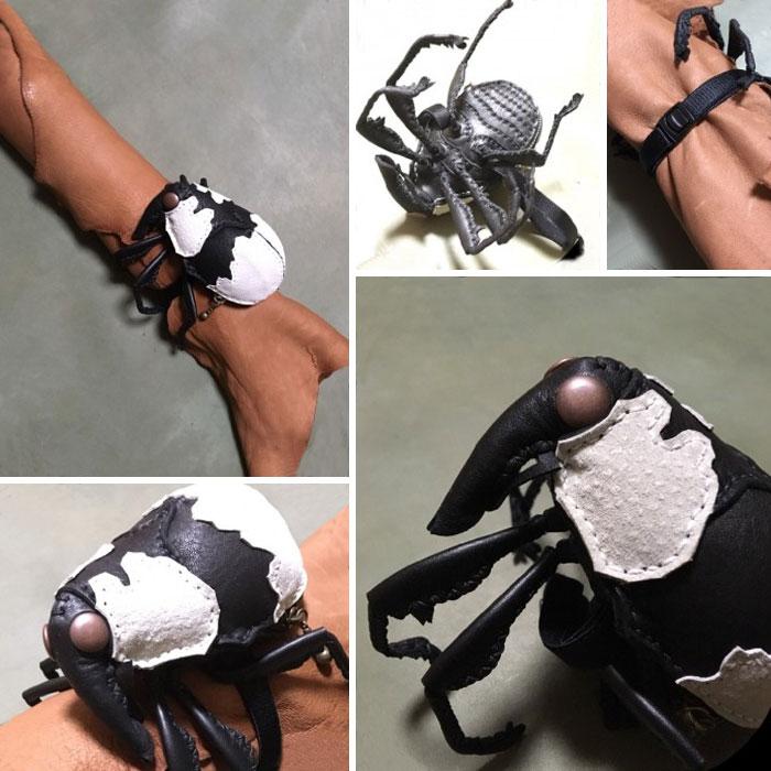 amaheso creature-inspired handbags scarab bracelet