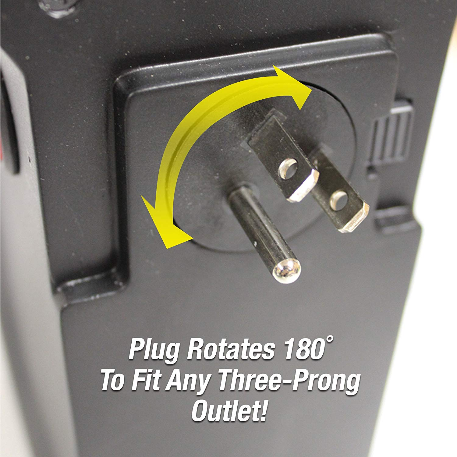 amazon handy heater rotating three-prong outlet