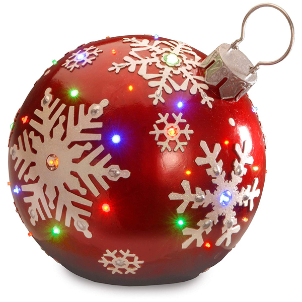 amazon oversized red ornament snowflake design
