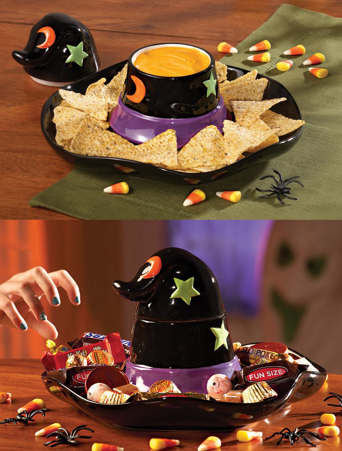 amazon witch hat chip and dip serving tray