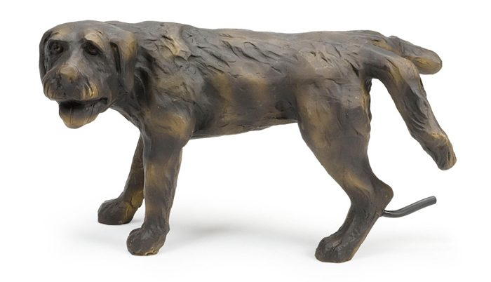 aquascape peeing dog water fountain statue