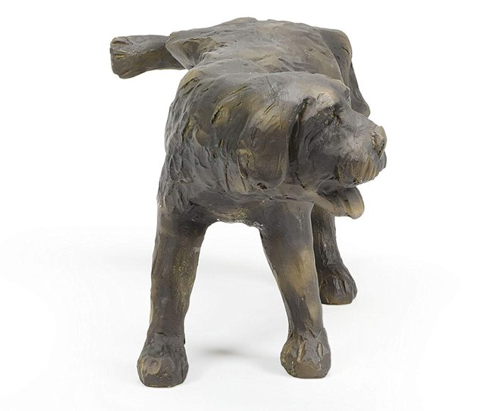 aquascape peeing dog water fountain statue front