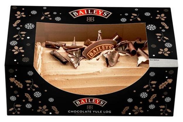 baileys yule log in the box