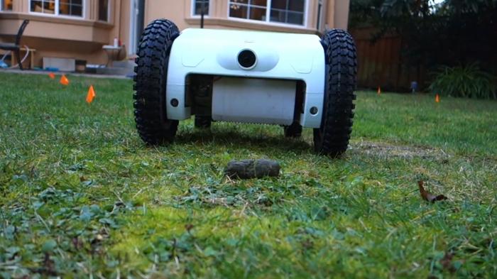 beetl autonomous dog poop robot front camera