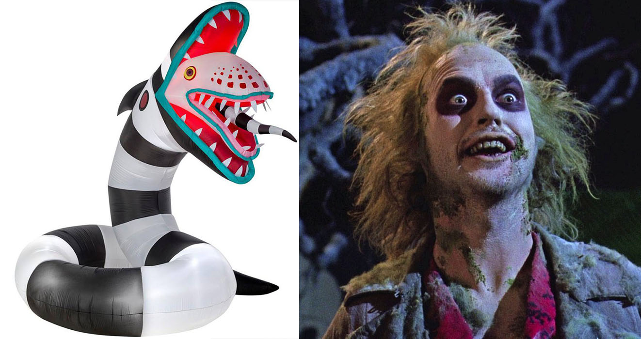 Up Your Game This Halloween With A Creepy Inflatable Beetlejuice Sandworm