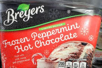 breyers frozen peppermint hot chocolate ice cream