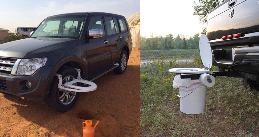 Peachy The Bumper Dumper Is A Hitch Mountable Portable Toilet For Customarchery Wood Chair Design Ideas Customarcherynet
