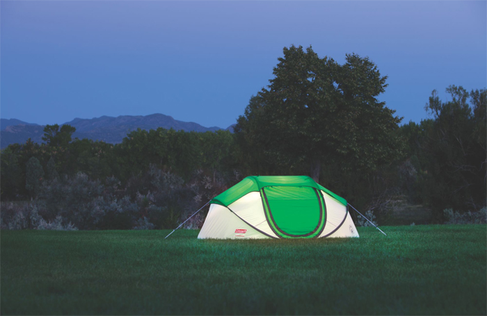 coleman 4-person pop-up tent easy setup