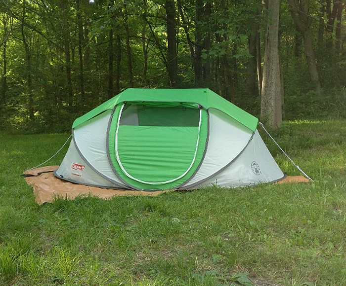 coleman 4-person pop-up tent easy to set up