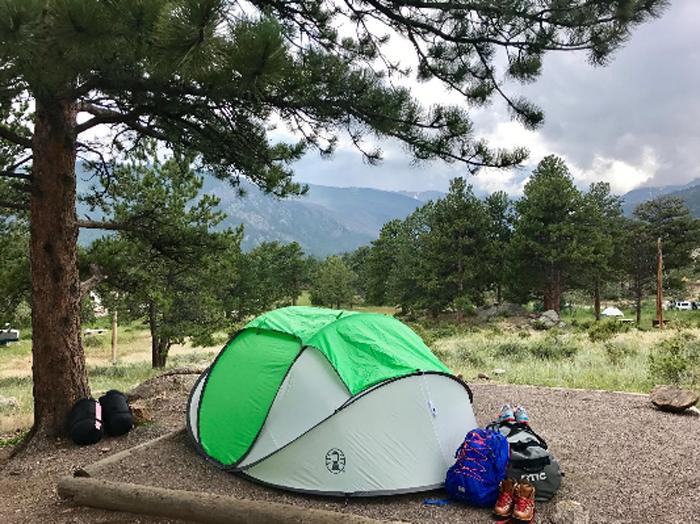coleman 4-person pop-up tent outdoor