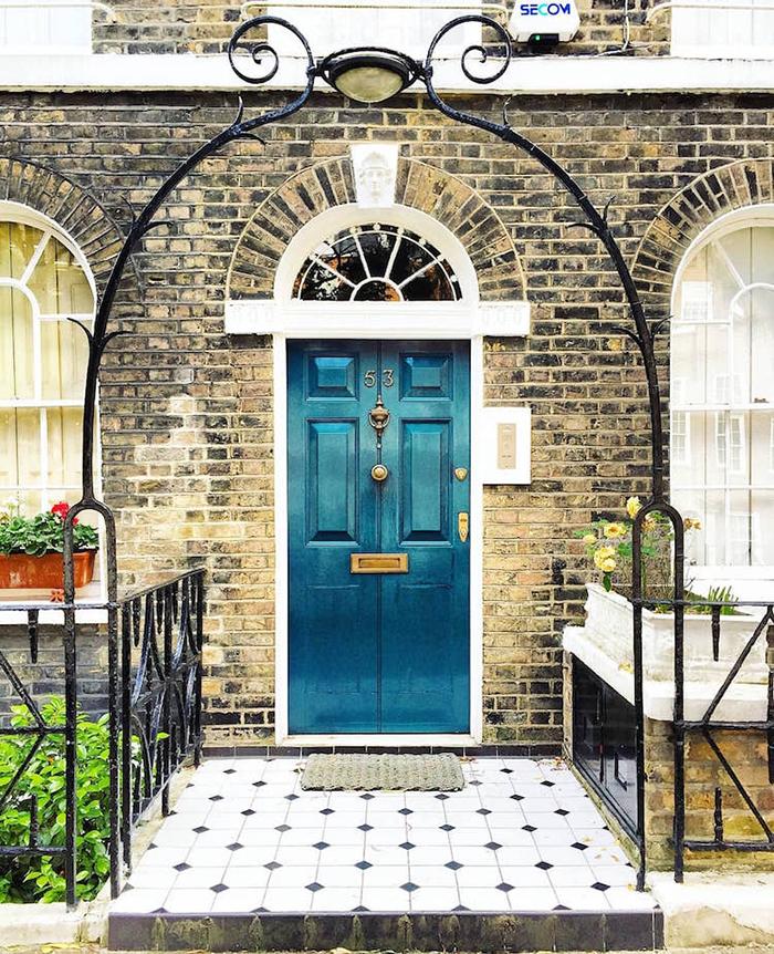 colorful front doors blue door