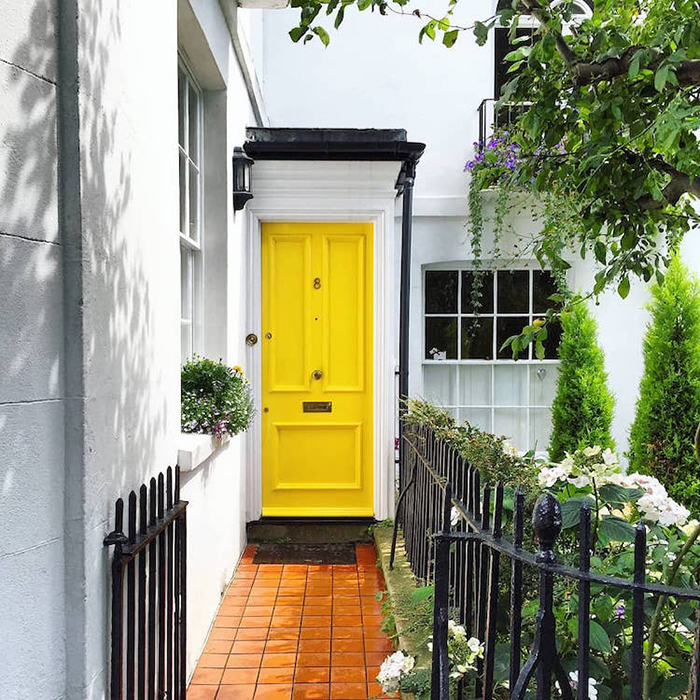 colorful front doors cheerful yellow