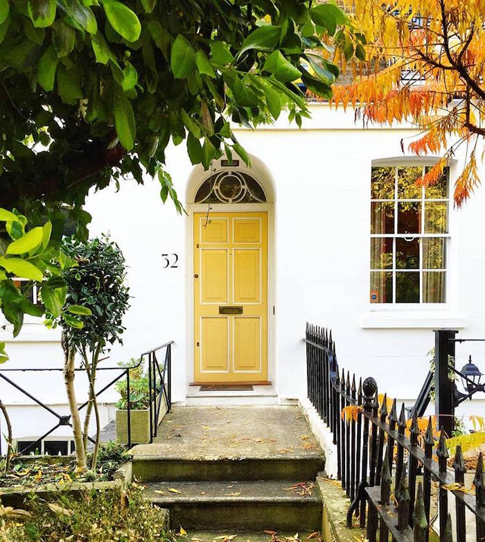 colorful front doors lemon yellow