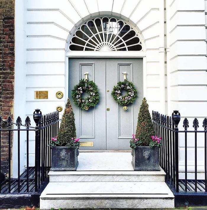 colorful front doors mauve