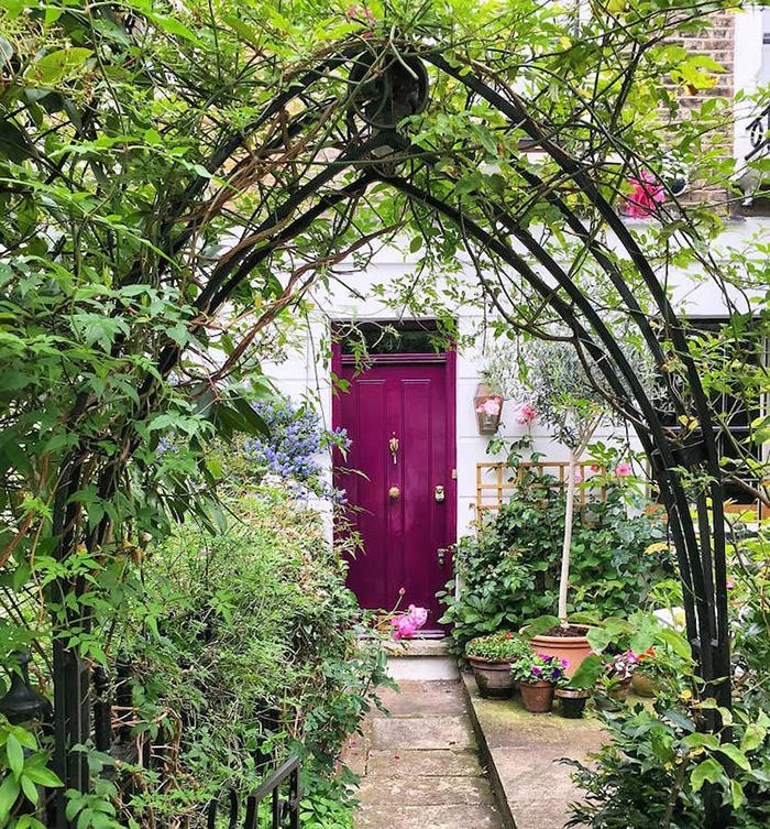 colorful front doors purple door