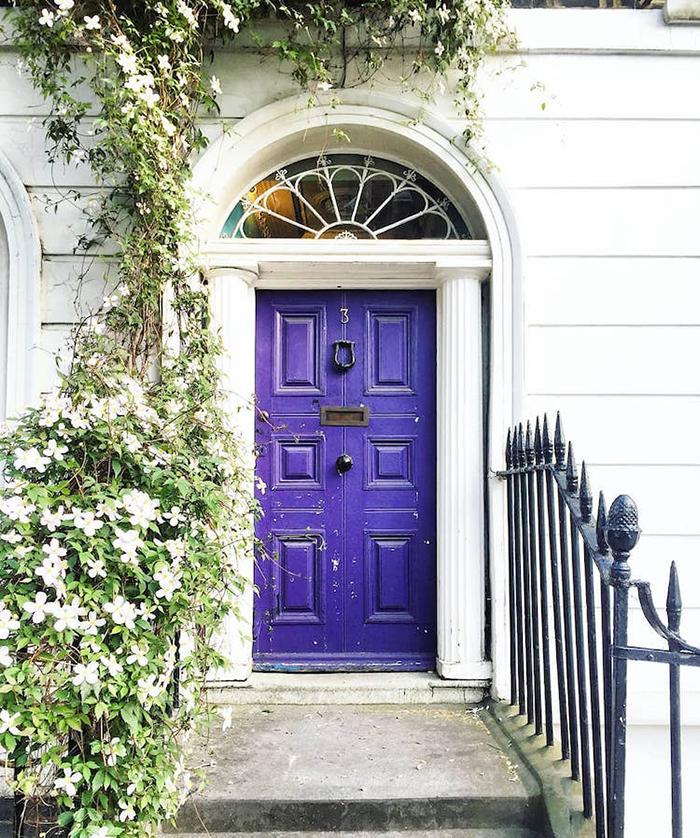 colorful front doors violet