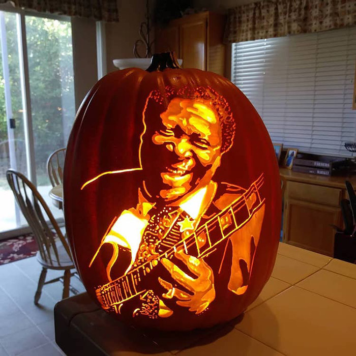 cool pumpkin carving blues icon