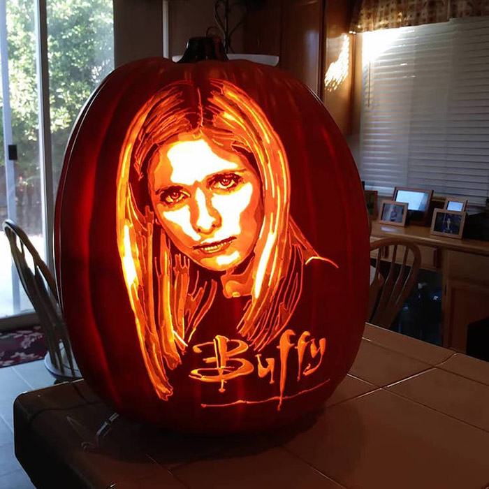 cool pumpkin carving buffy the vampire slayer