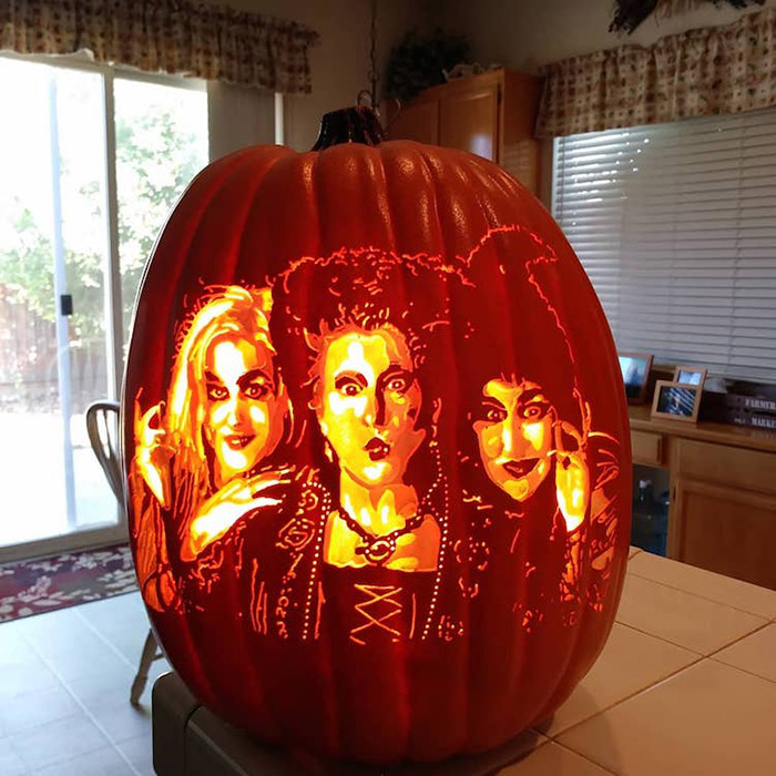 cool pumpkin carving hocus pocus