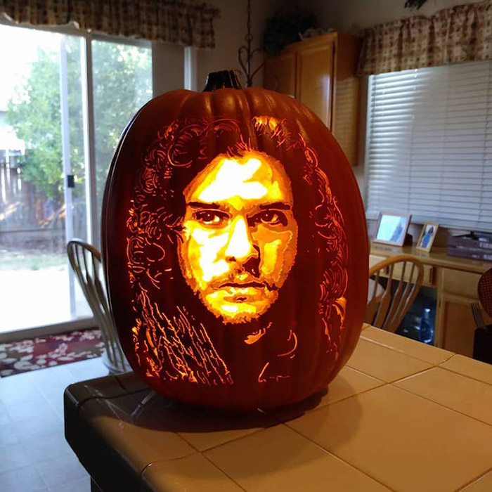 cool pumpkin carving jon snow