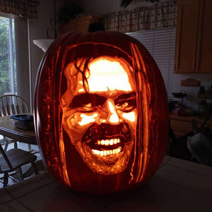 cool pumpkin carving the shining