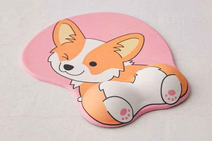 corgi butt mouse pad comfortable wrist rest