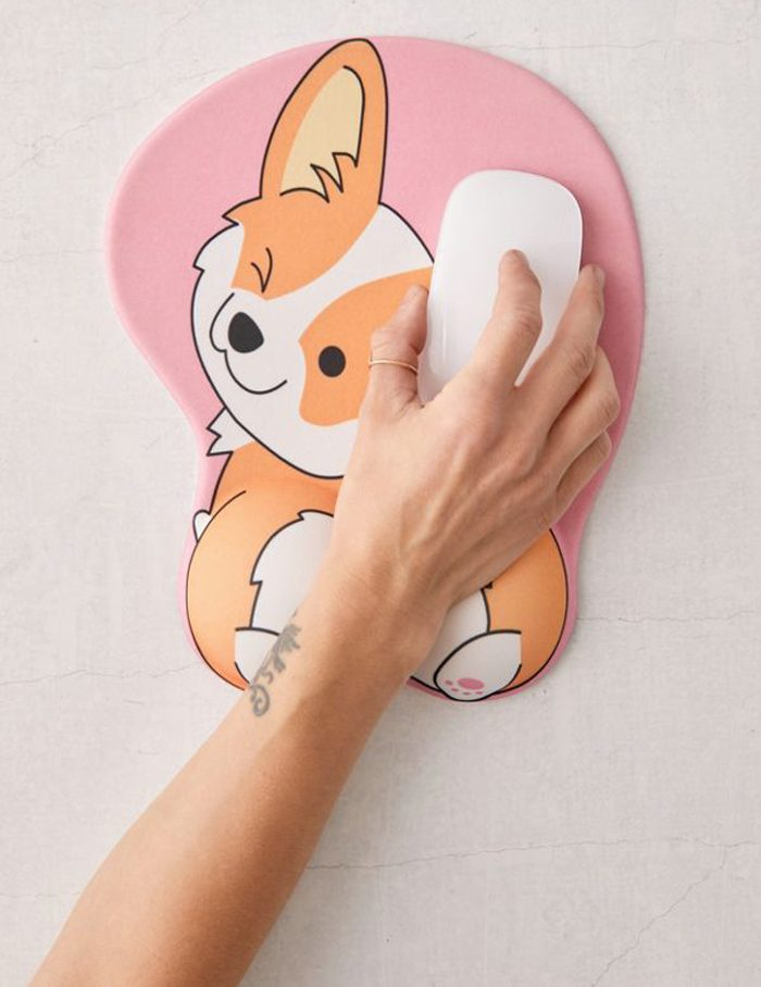 corgi butt mouse pad cute design