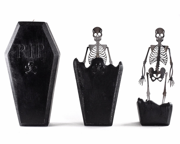 creepycandles coffin candle