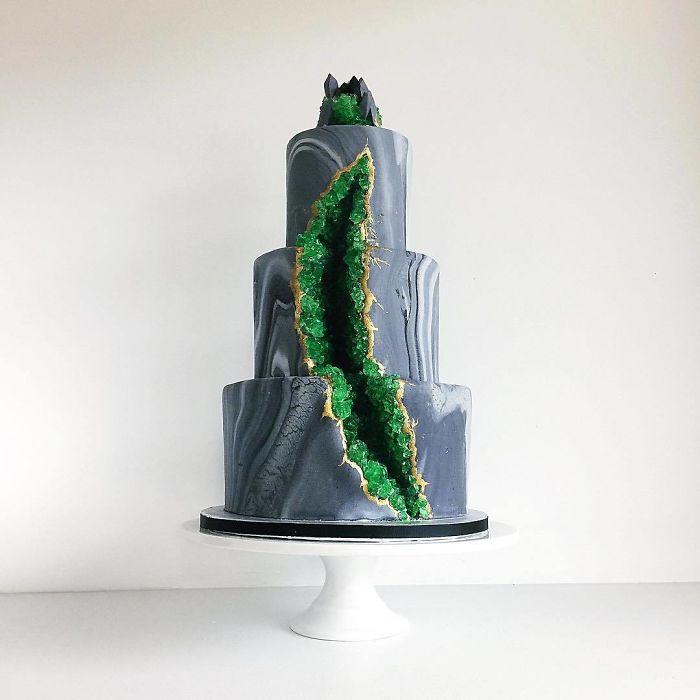 darci amazing cakes green geode