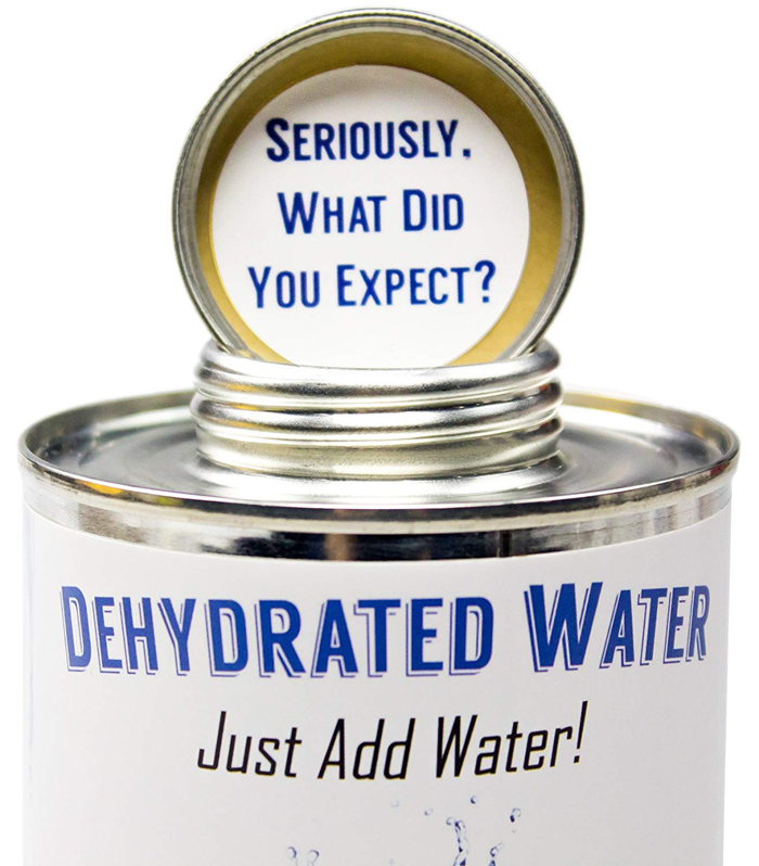 dehydrated water in a can cap