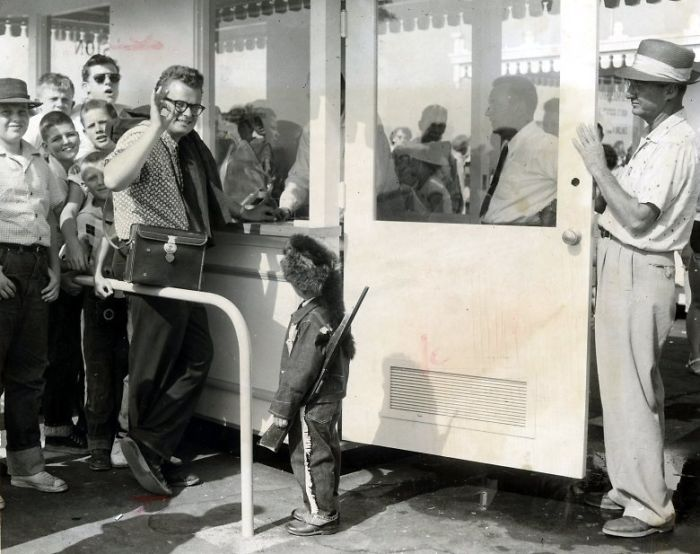 Disneyland's First Ever Customer Dave McPherson stands in line