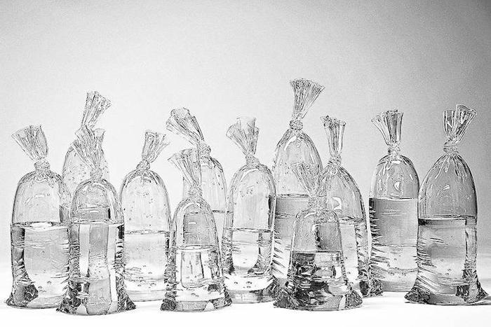 dylan martinez water bag glass sculptures hand-sculpted