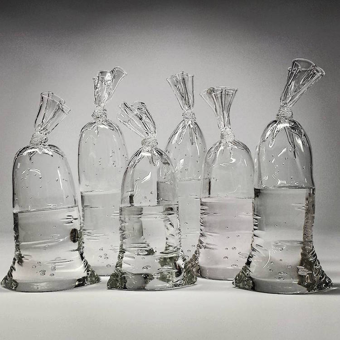 dylan martinez water bag glass sculptures meticulous details
