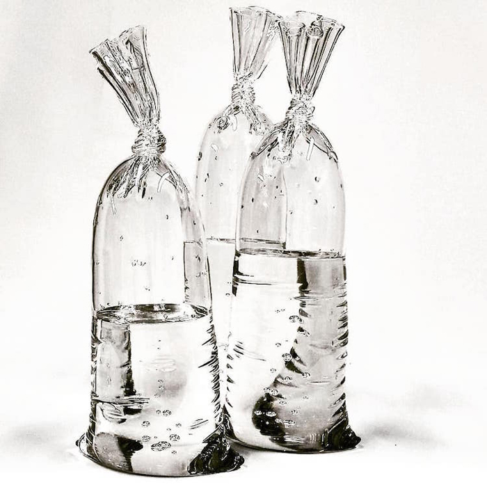 dylan martinez water bag glass sculptures realistic