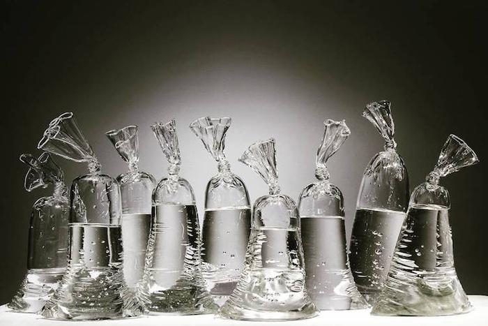 dylan martinez water bag glass sculptures set of nine