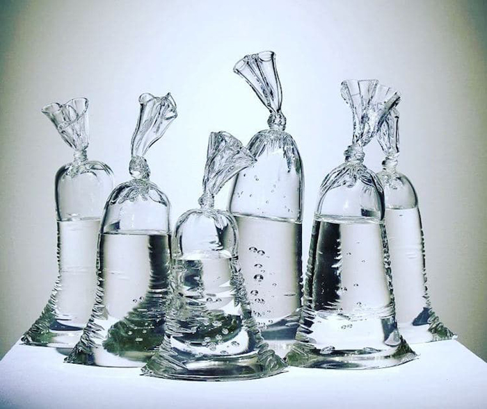 dylan martinez water bag glass sculptures set of six