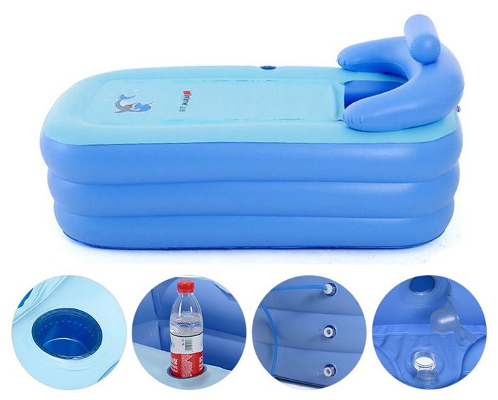 eosaga inflatable spa bath tub features