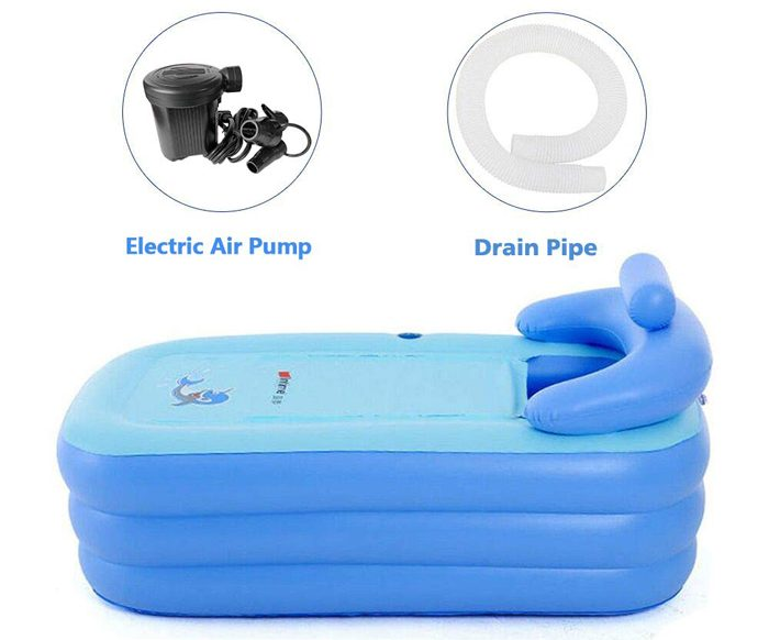 eosaga inflatable spa bath tub side
