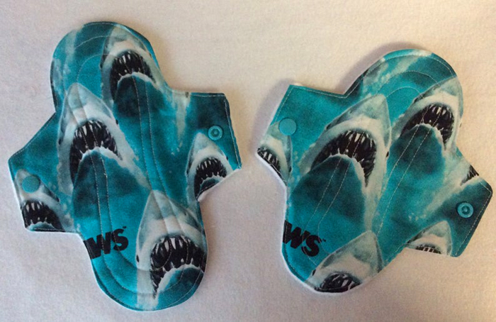 etsy jaws reusable menstrual pads blue shark