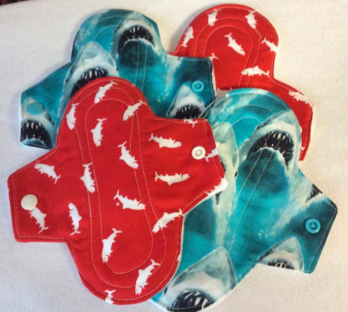 etsy jaws reusable menstrual pads colors patterns