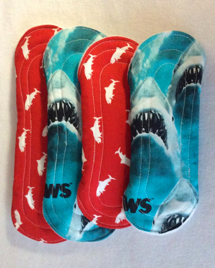 etsy jaws reusable menstrual pads folded