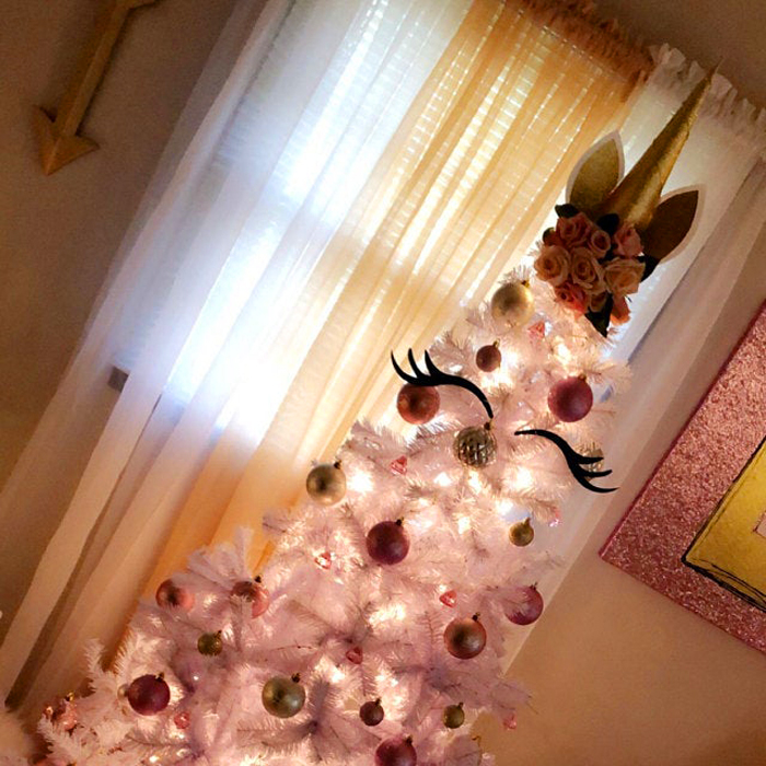 etsy unicorn christmas tree gold topper