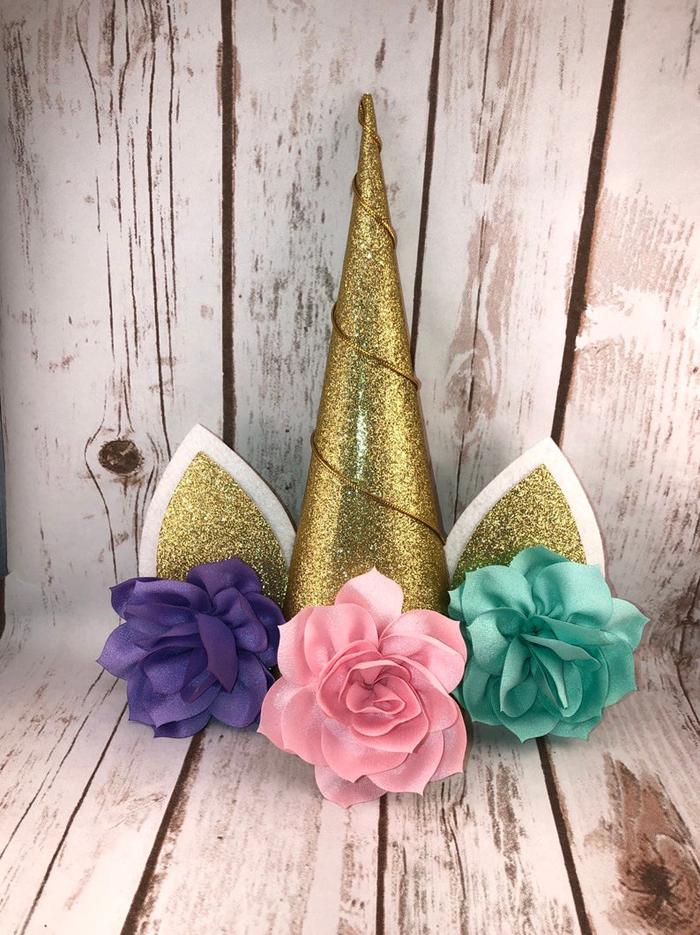 etsy unicorn christmas tree horn topper gold