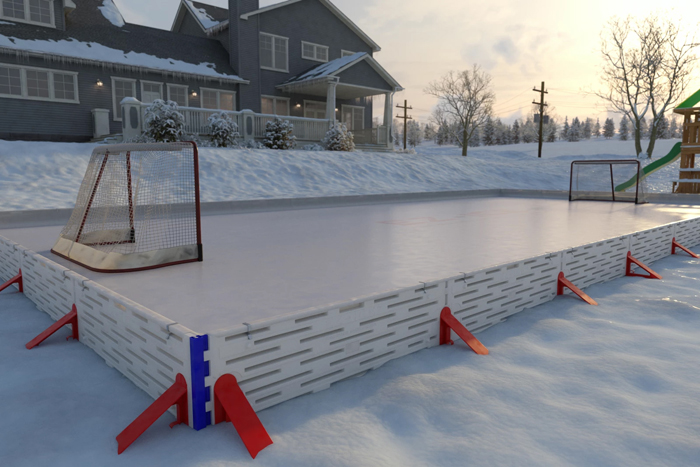 ez ice rink backyard hockey